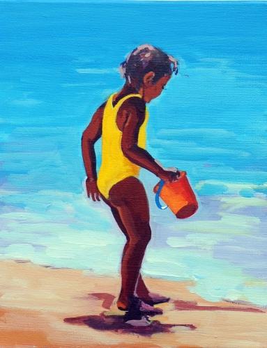 Der gelbe Badeanzug