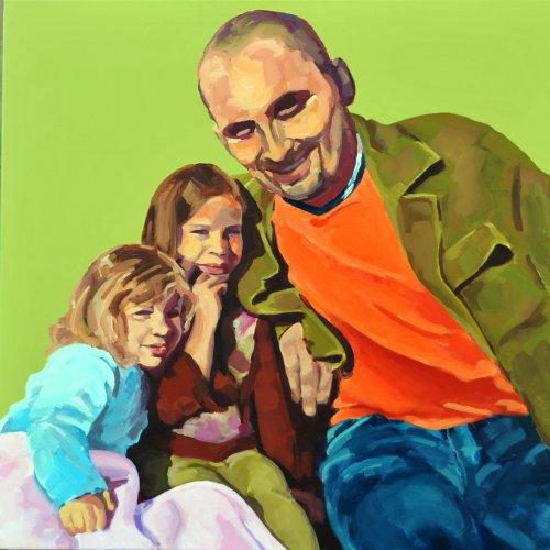 Vater mit Töchtern